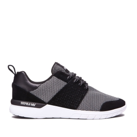 Supra Mens SCISSOR Black/White/white Low Top Shoes | CA-83663
