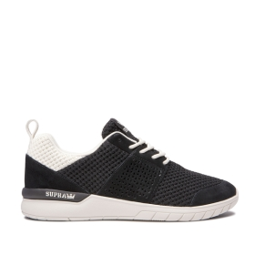 Supra Mens SCISSOR Black/bone Low Top Shoes | CA-19134