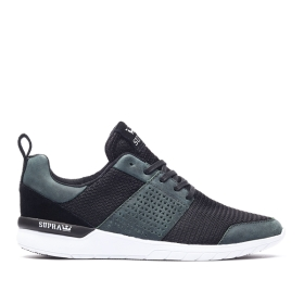 Supra Mens SCISSOR Deep Teal/Black/Translucent Low Top Shoes | CA-62107