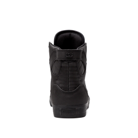 Supra Mens SKYTOP Black/Black High Top Shoes | CA-32303
