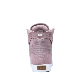 Supra Mens SKYTOP Mauve High Top Shoes | CA-25535