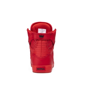 Supra Mens SKYTOP Red High Top Shoes | CA-32130