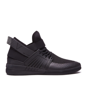 Supra Mens SKYTOP V Black/black High Top Shoes | CA-16537