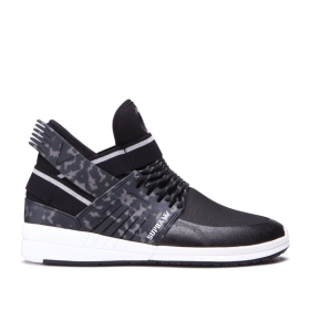 Supra Mens SKYTOP V Black/white High Top Shoes | CA-67415