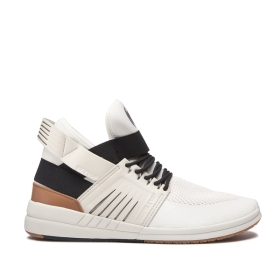 Supra Mens SKYTOP V Bone/Black/bone High Top Shoes | CA-97327
