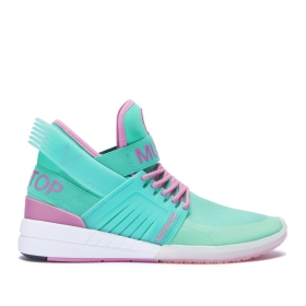 Supra Mens SKYTOP V Mint/Rose/White High Top Shoes | CA-71369