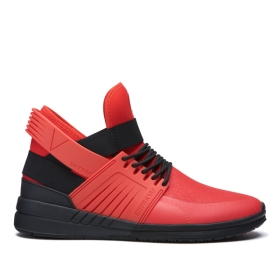 Supra Mens SKYTOP V Risk Red/Black/black High Top Shoes | CA-75909
