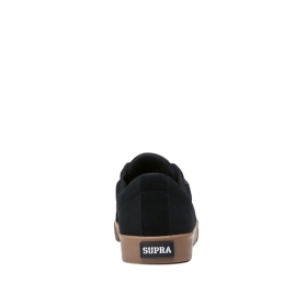 Supra Mens STACKS II VULC Black/Gum Low Top Shoes | CA-88619