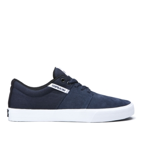 Supra Mens STACKS II VULC Navy/White/white Low Top Shoes | CA-72140