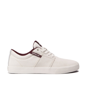 Supra Mens STACKS II VULC Off White/off White Low Top Shoes | CA-13909