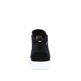 Supra Mens STACKS MID Black/Black/white High Top Shoes | CA-99853