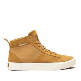 Supra Mens STACKS MID Tan/bone High Top Shoes | CA-81452