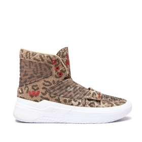 Supra Mens THEORY Animal/white High Top Shoes | CA-30069