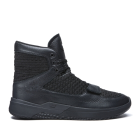 Supra Mens THEORY Black/Black Trainers | CA-29757
