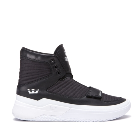 Supra Mens THEORY Black/White/white High Top Shoes | CA-93289