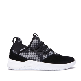 Supra Mens TITANIUM Black/white Trainers | CA-87797