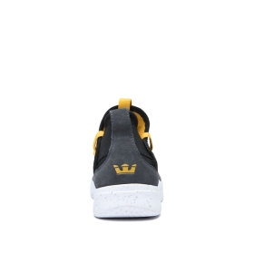 Supra Mens TITANIUM Dk Grey/Black/Golden/white Low Top Shoes | CA-74427