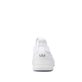 Supra Mens TITANIUM White/white Low Top Shoes | CA-97118