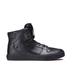 Supra Mens VAIDER Black/Black High Top Shoes | CA-24917