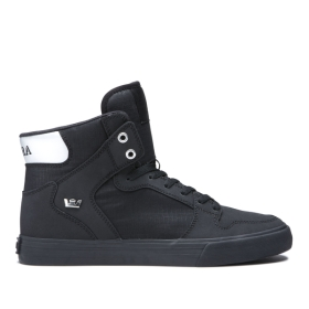Supra Mens VAIDER Black/Chrome/black High Top Shoes | CA-20182
