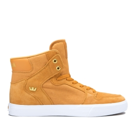 Supra Mens VAIDER Desert/Gold/white High Top Shoes | CA-25868