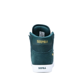 Supra Mens VAIDER Evergreen/Gold/white High Top Shoes | CA-93808