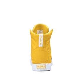 Supra Womens ALUMINUM Caution/white High Top Shoes | CA-39647