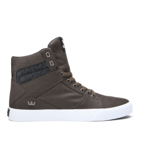 Supra Womens ALUMINUM Demitasse/Black/White High Top Shoes | CA-78131
