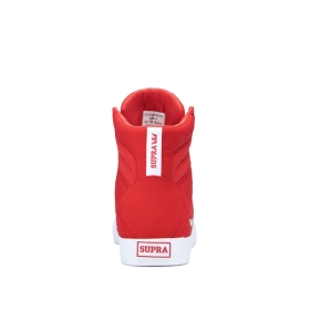 Supra Womens ALUMINUM Risk Red/white High Top Shoes | CA-99266