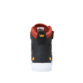 Supra Womens BREAKER Black/Bossa Nova/Golden/white High Top Shoes | CA-20341