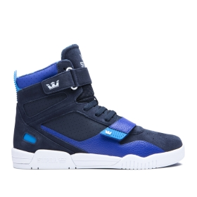 Supra Womens BREAKER Navy/Royal/white High Top Shoes | CA-12790