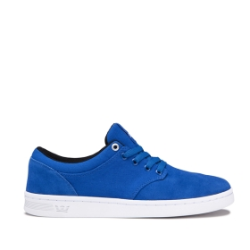 Supra Womens CHINO COURT Ocean/white Low Top Shoes | CA-93614