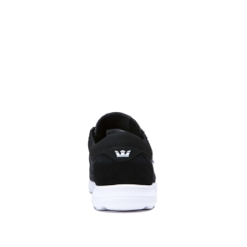 Supra Womens HAMMER RUN Black Emboss/white Low Top Shoes | CA-96450