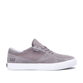 Supra Womens MELROSE Grey/white Low Top Shoes | CA-71579