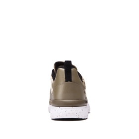Supra Womens SCISSOR Gothic Olive/White Low Top Shoes | CA-83247