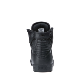 Supra Womens SKYTOP Black/Black/red High Top Shoes | CA-22210