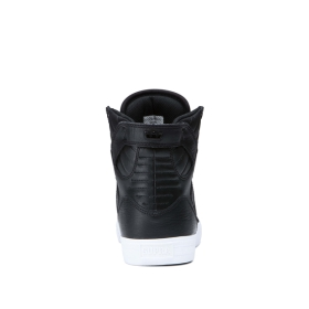 Supra Womens SKYTOP Black/White High Top Shoes | CA-36786