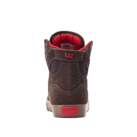 Supra Womens SKYTOP Brown/Gum High Top Shoes | CA-16545