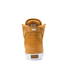 Supra Womens SKYTOP Desert/white High Top Shoes | CA-91830