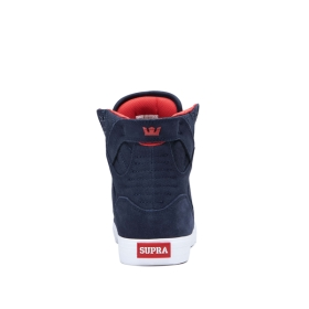 Supra Womens SKYTOP Navy/White High Top Shoes | CA-47359
