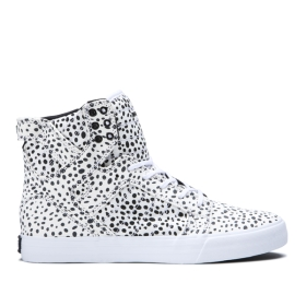 Supra Womens SKYTOP Spot/white High Top Shoes | CA-40270