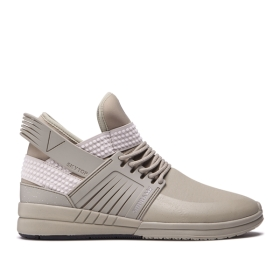 Supra Womens SKYTOP V Silver Sage High Top Shoes | CA-19746