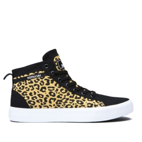 Supra Womens STACKS MID Animal/white High Top Shoes | CA-70528