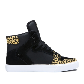 Supra Womens VAIDER Animal/Black/white High Top Shoes | CA-41752
