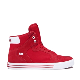 Supra Womens VAIDER Formula One/white High Top Shoes | CA-95473