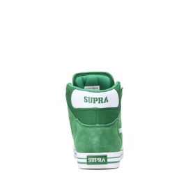 Supra Womens VAIDER Green/white High Top Shoes | CA-99677