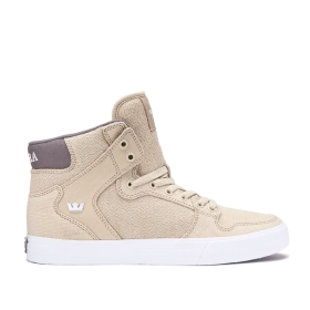 Supra Womens VAIDER Mojave/Dk Grey/white High Top Shoes | CA-19574