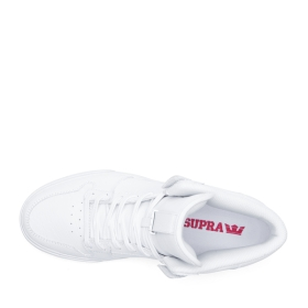 Supra Womens VAIDER White/White High Top Shoes | CA-43024